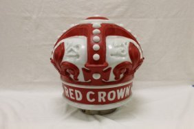 """Standard Oil Red Crown Gas Globe, App. 17"""" Tall With"""