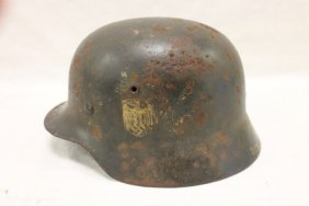 German Army/navy Helmet With Some Pitting. Uncleaned,