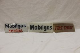 """Face Plates: Mobilgas Special 4 1/4"""" X 10 1/8"""" With"""