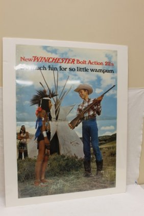 New Winchester Bolt Action 22s Advertising Poster