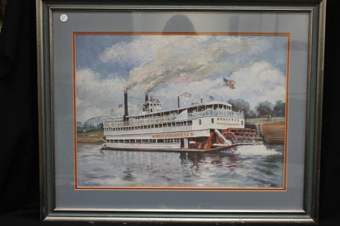"""Tony Oswald """"76 signed print """"Belle Of Louisville"""","""
