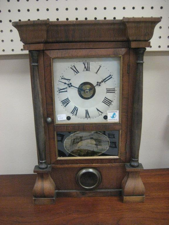 Seth Thomas 8-day spring Column clock with repainted