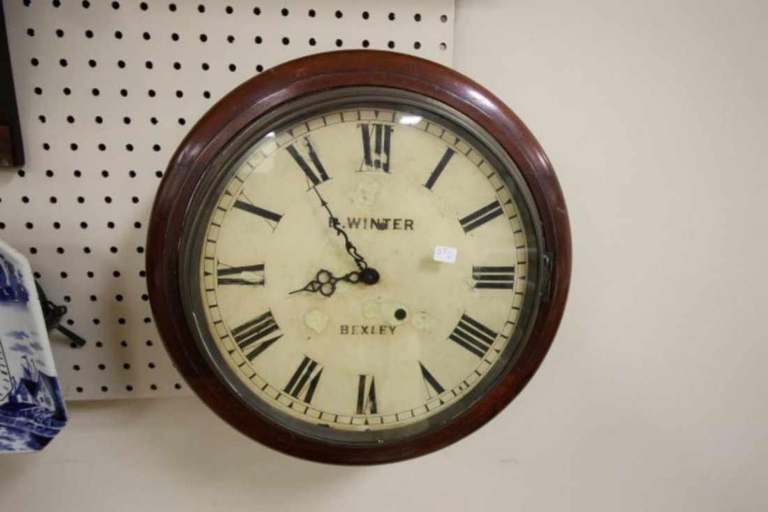 """E. Winter, Bexley 15"""" gallery wall clock, metal painted"""