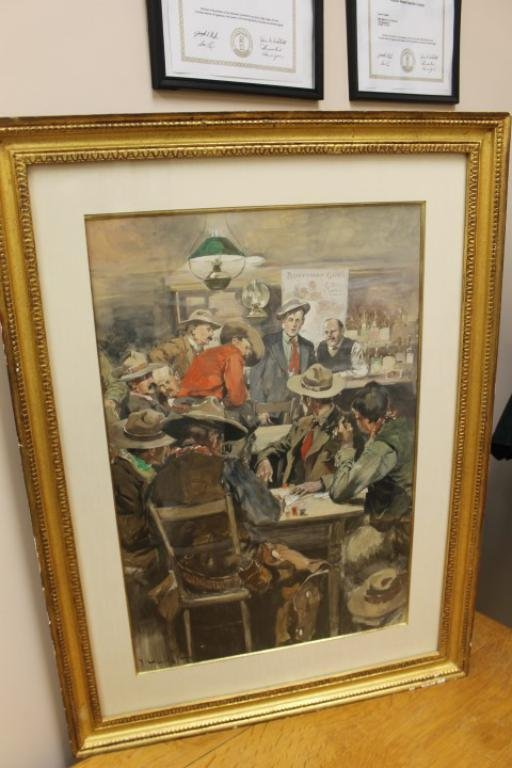 George Hand Wright (1872-1951) watercolor on board