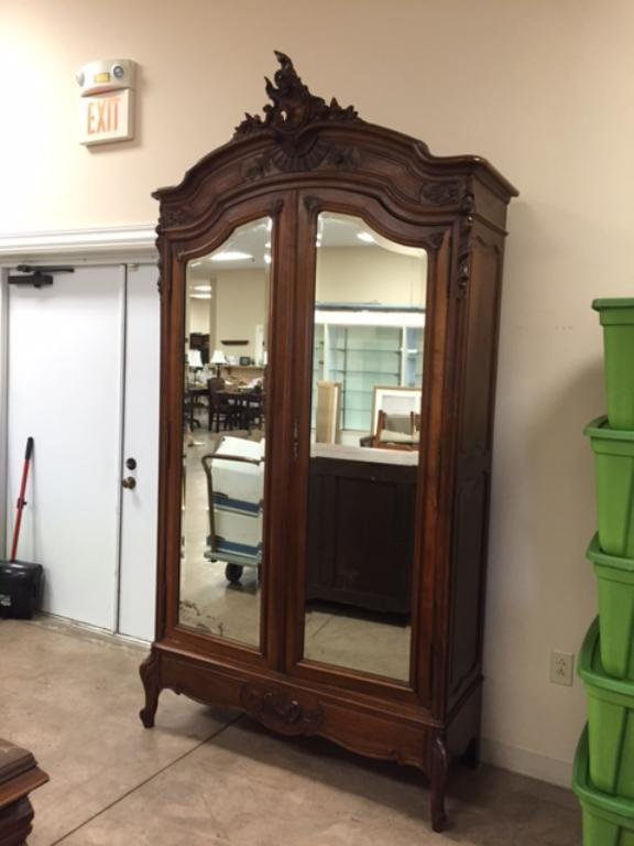 Fine two door French Rococo style wardrobe with