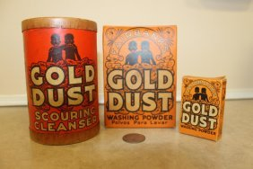 Gold Dust Product Containers: Scouring Cleanser, (2)