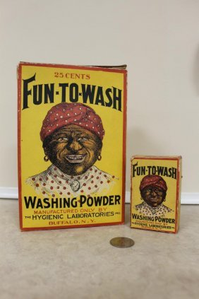 Fun-to-wash Washing Powders Product Containers, Both