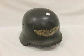 Luftschutz German Helmet With Emblem And Original