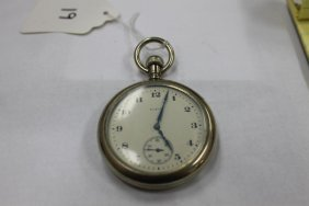 Elgin 16 Size Pocket Watch With Screw Off Front, In