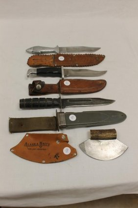 """11 5/8"""" Fish Handle Knife With Engraved Blade Marked"""
