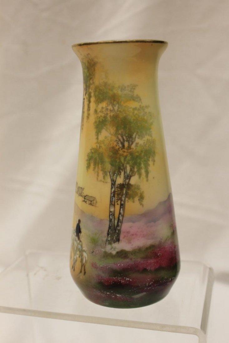"""Steeple mark R.S. Germany Sheepherders vase, 6 1/2"""" - 2"""