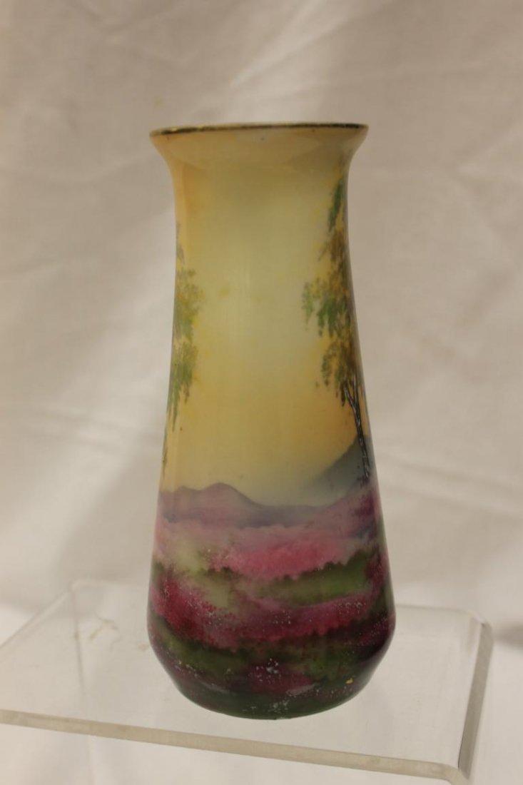 """Steeple mark R.S. Germany Sheepherders vase, 6 1/2"""" - 3"""
