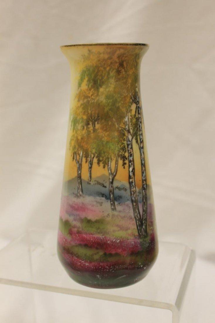 """Steeple mark R.S. Germany Sheepherders vase, 6 1/2"""" - 4"""