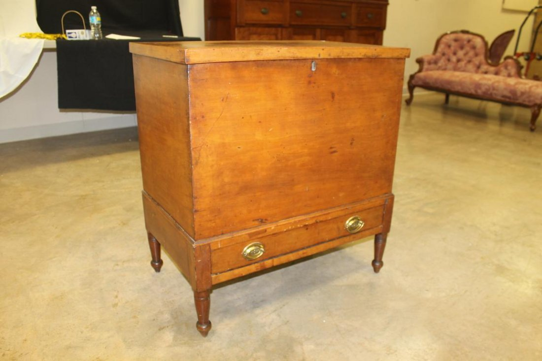 Fine Kentucky cherry sugar chest with banded top,