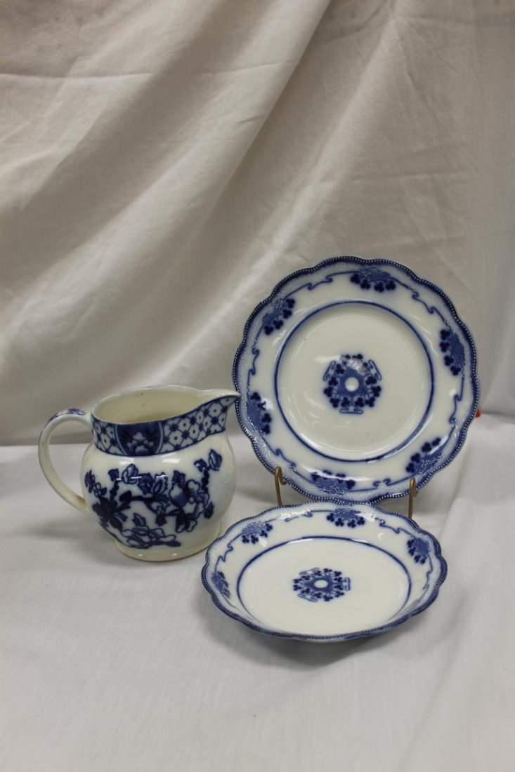 "Flow Blue china:  Bursley Ware ""Stanley"" 5 1/2"" milk"