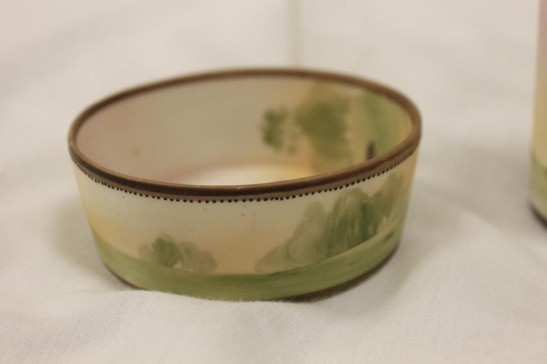 Green M with wreath Nippon ash bowl and cigarette - 3
