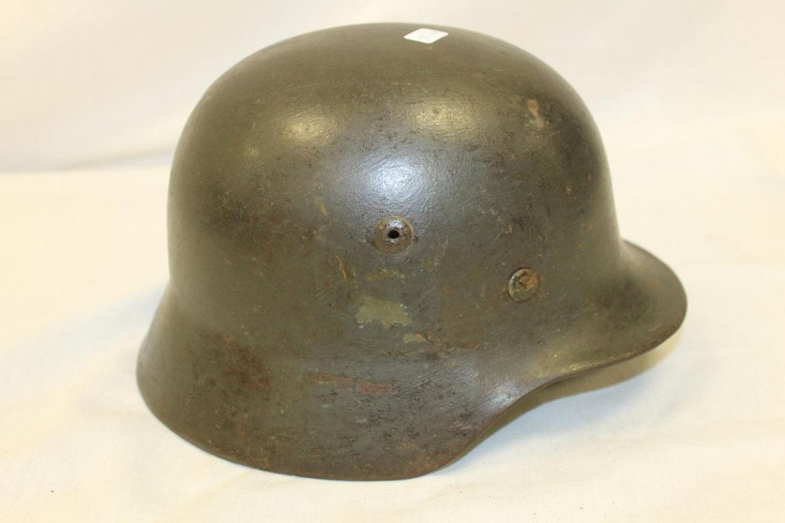 World War 2 German Army helmet with nazi decal on side. - 3