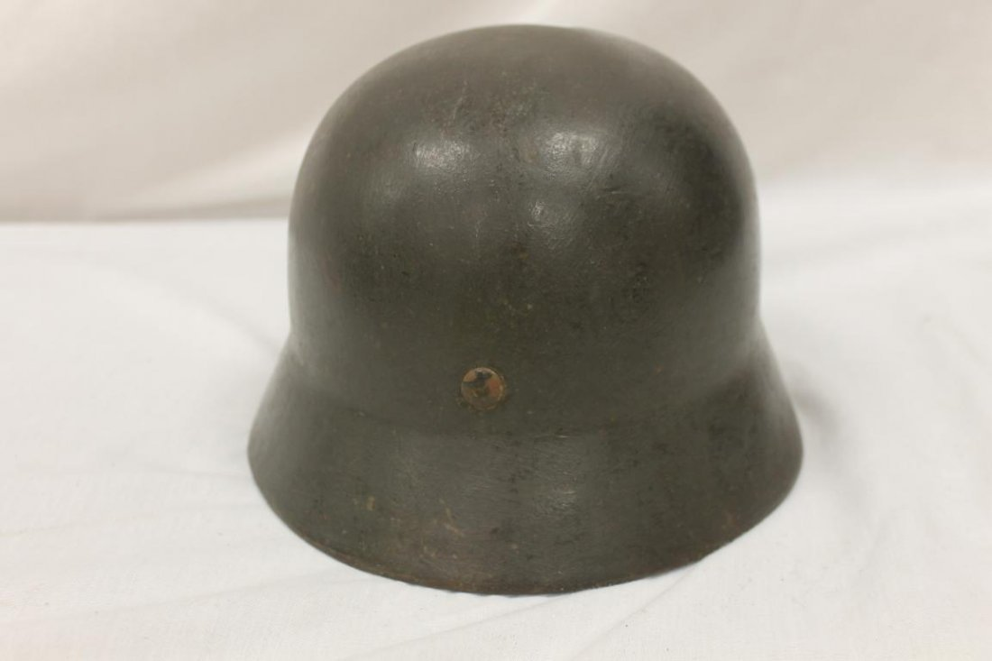 World War 2 German Army helmet with nazi decal on side. - 4
