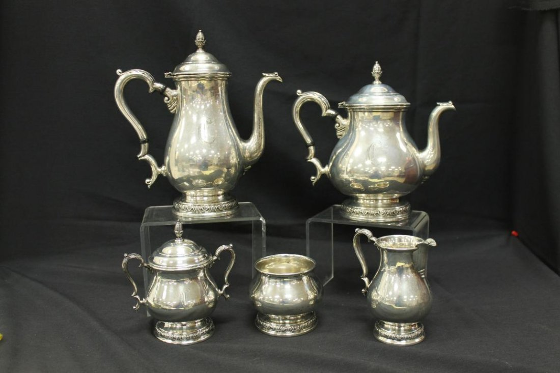 International Prelude sterling silver coffee and tea