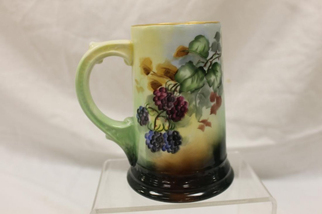 "W. Guerin & Co. Limoges 6"" mug with blackberry - 2"