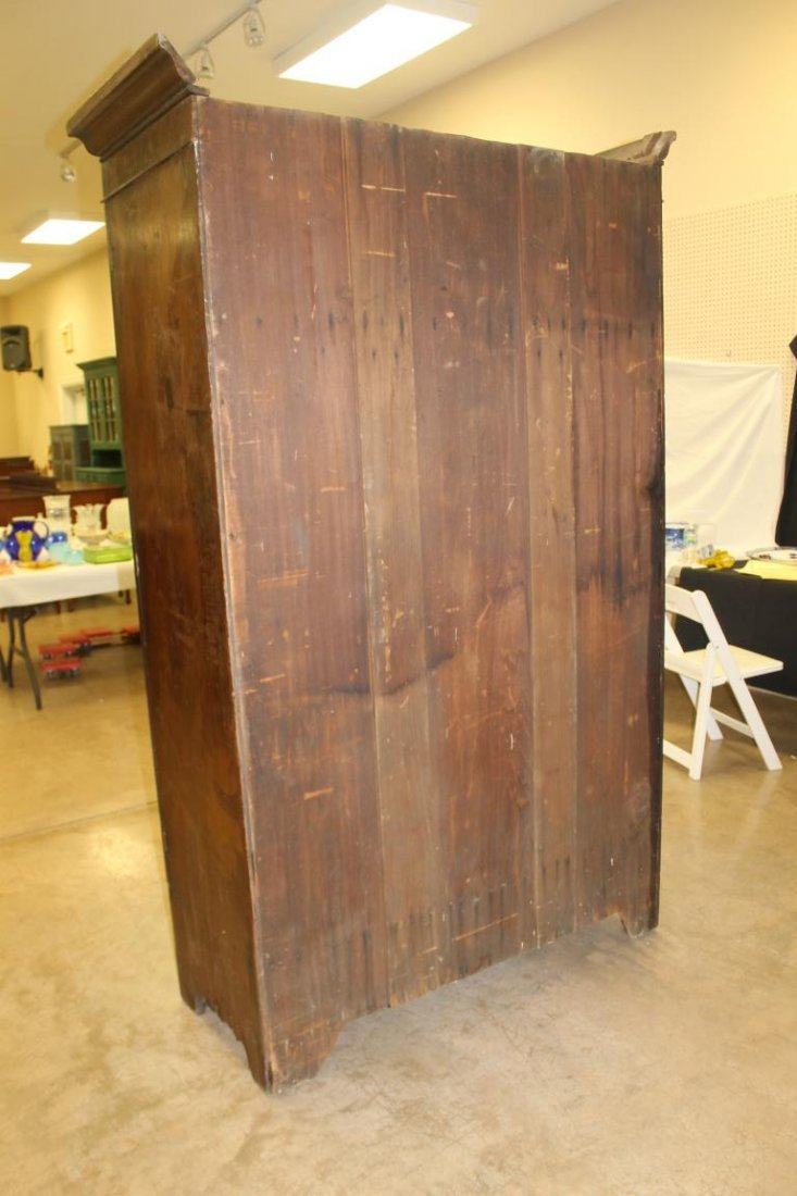 Walnut wardrobe with two doors over t drawers.  Solid - 5