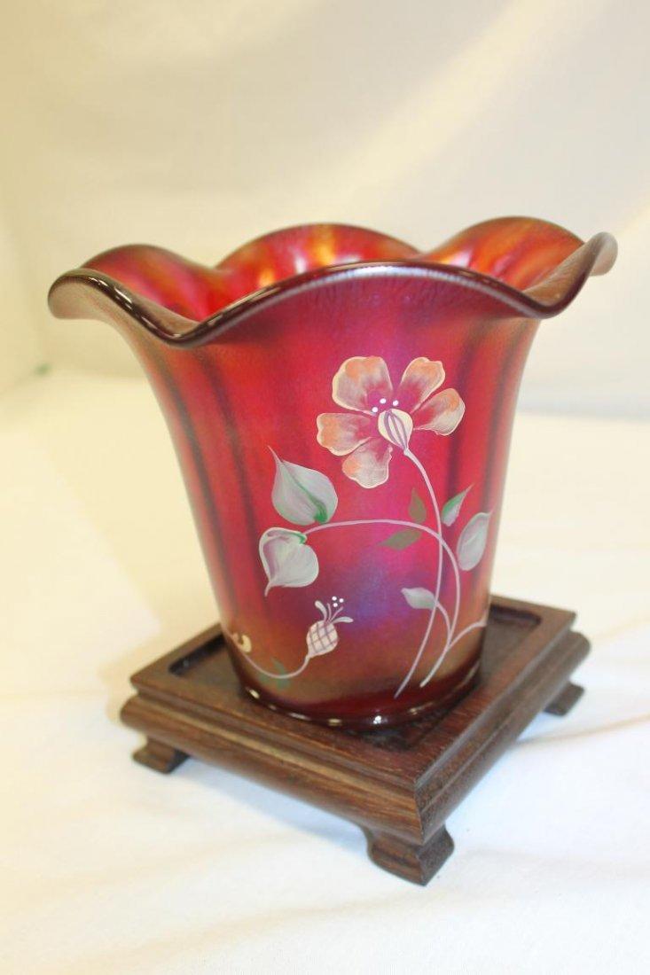 Fenton 100th Anniversary Founders Vase.  Ribbed - 3