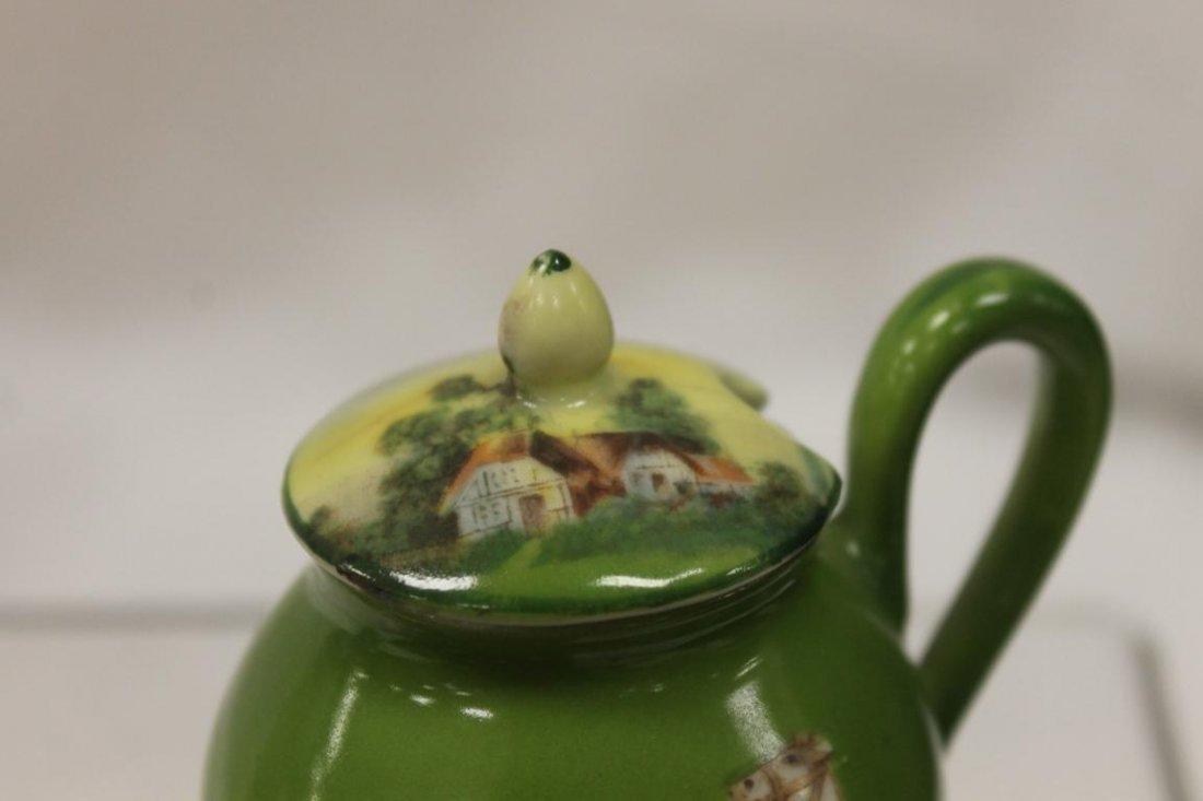 Blue mark Royal Bayreuth mustard pot with spoon and Man - 4