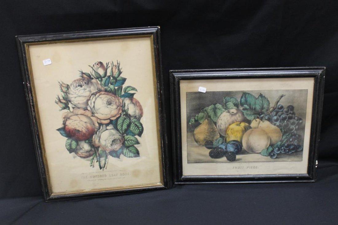 Currier & Ives prints:  The Hundred Leaf Rose (1870,