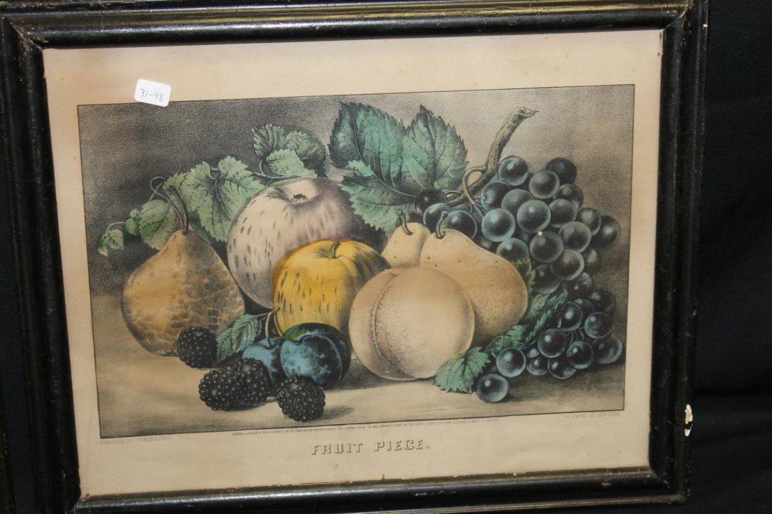 Currier & Ives prints:  The Hundred Leaf Rose (1870, - 2