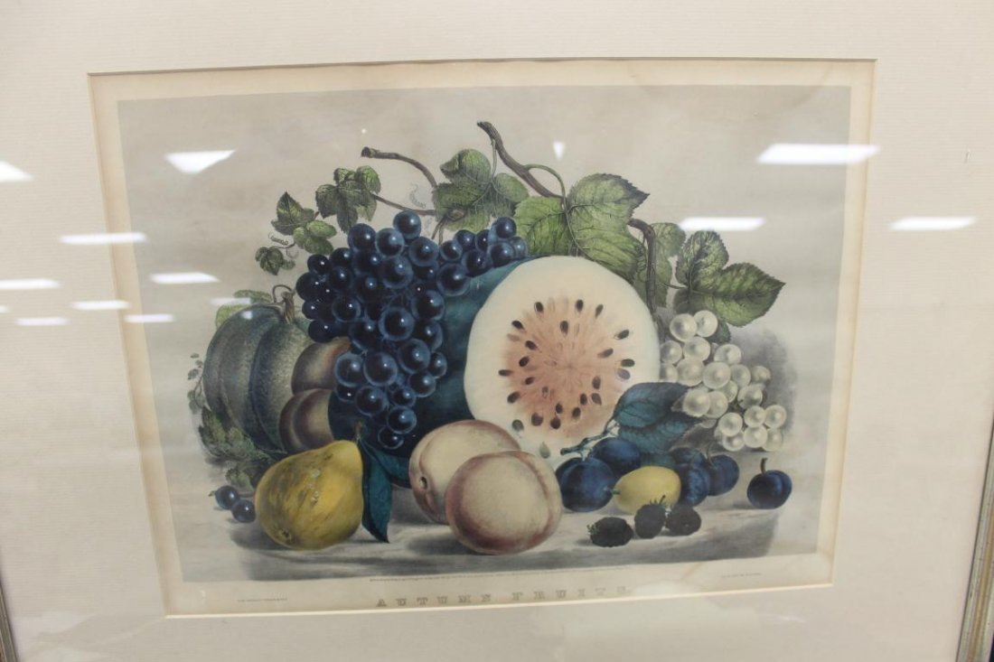Currier & ives Autumn Fruit (1861, 152 Nassau St.),