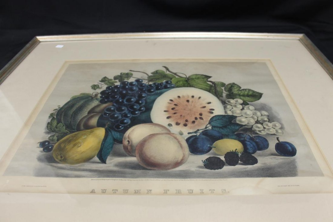 Currier & ives Autumn Fruit (1861, 152 Nassau St.), - 2