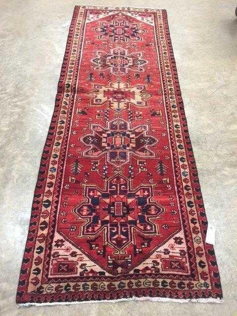 "Genuine Persian Heriz, 3'4"" X 10'"