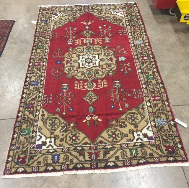 Genuine Old Persian Turkish Tabriz, 6' X 9'