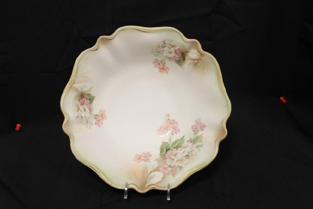"""Red mark RS Prussia satin finish 11"""" floral bowl"""