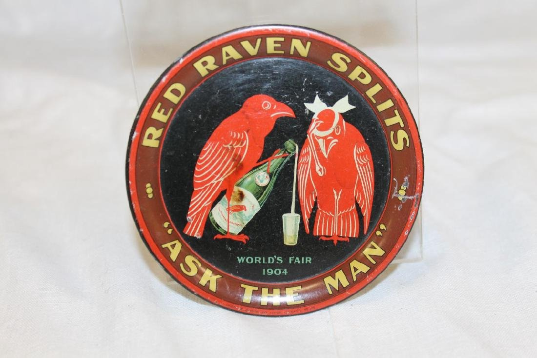 """Red Raven Splits 4 1/8"""" round tip tray """"Ask the man"""","""