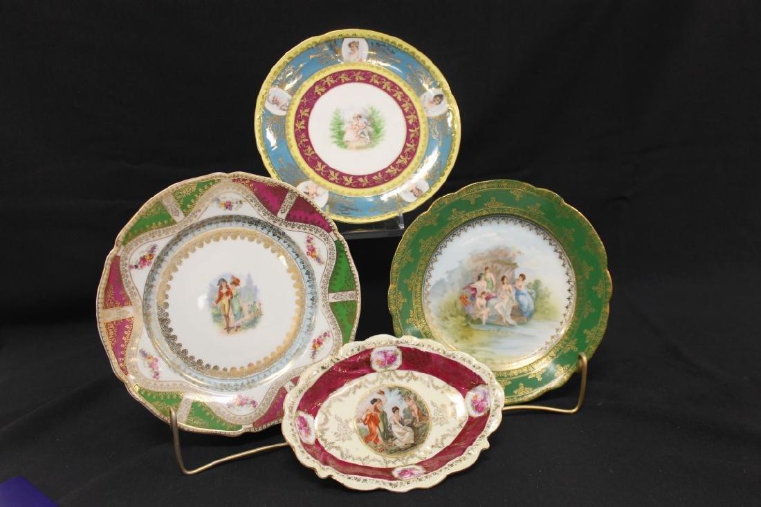 "Portrait pieces:  ES Prove Saxe Germany 7"" oval dish"
