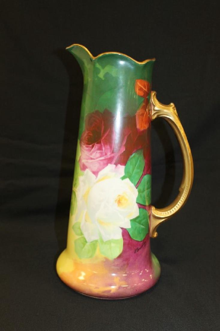 """14 7/8"""" Limoges Coronet and M&M Limoges tankard signed"""