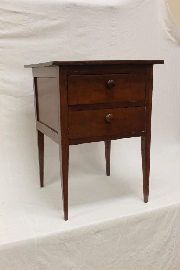 Fine two drawer tapered leg stand table with 2-board