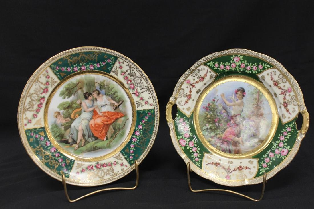 E.S Prove Saxe and Beehive Austria plates with