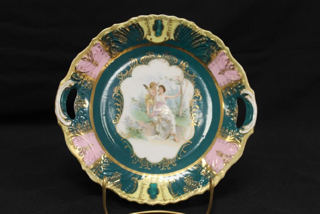 """Bavaria 10 1/4"""" pink, green and yellow keyhole plate"""