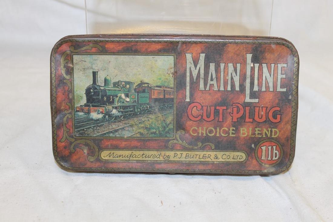 Main Line Cut Plug Choice Blend 1 lb. tobacco tin.