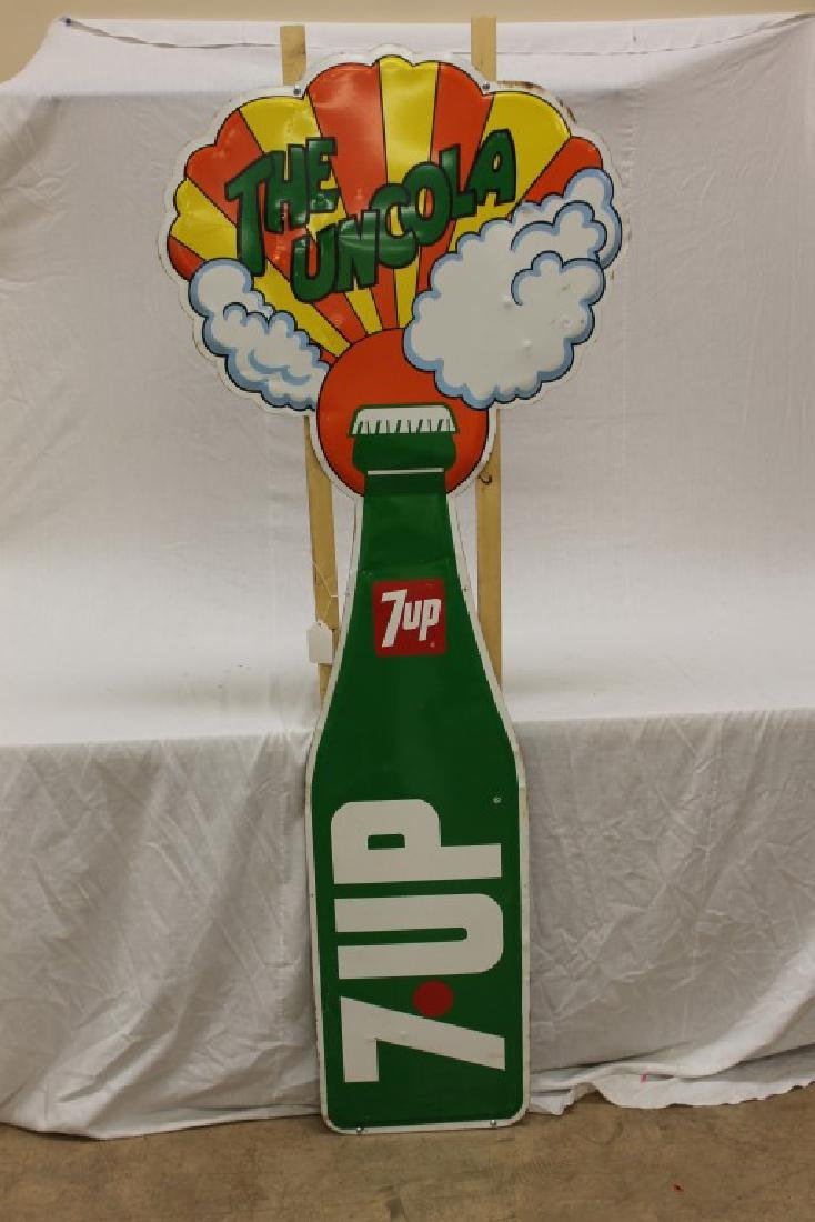 """7-up The Uncola 1969 sign, 28 15/16"""" X 71"""""""