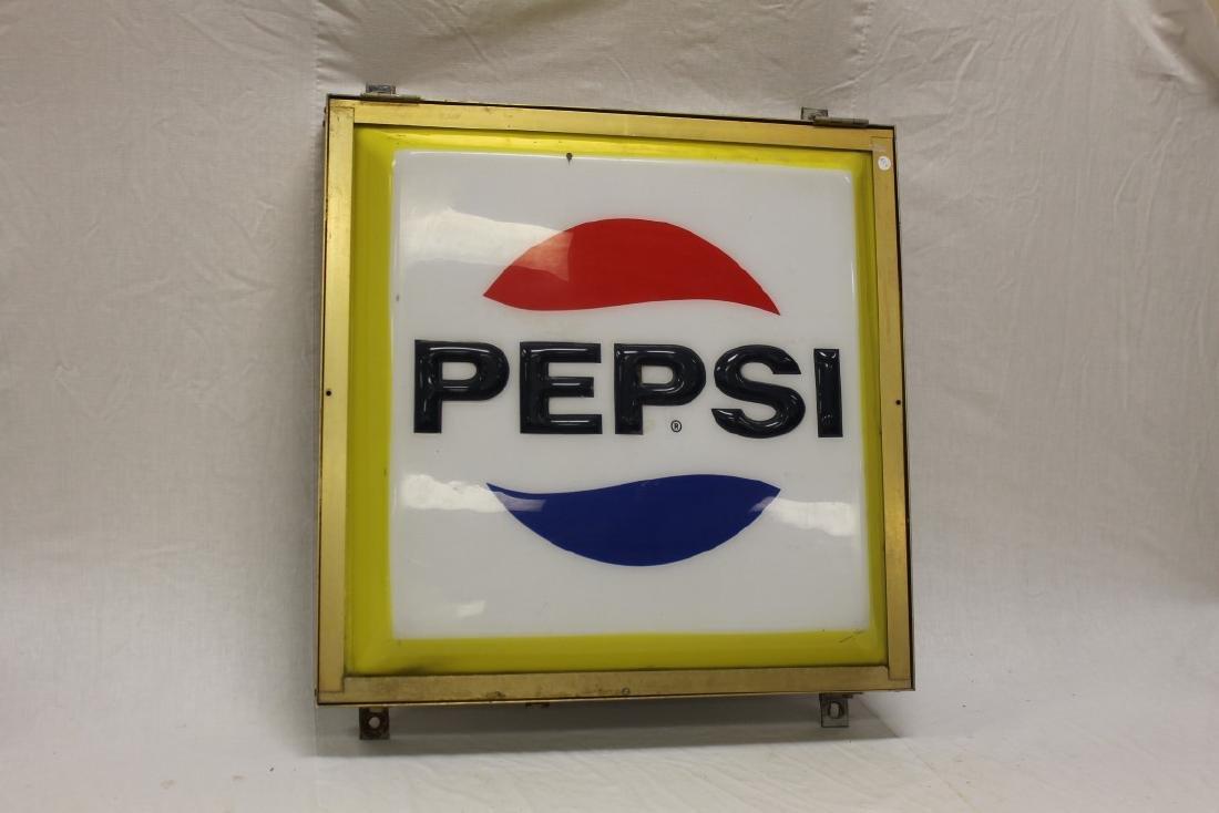 "Pepsi Cola 1969 eletrical light-up sign, 30 1/4"" X 30"