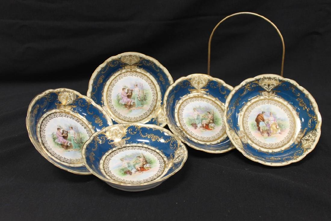"""Set of (5) 5 1/2"""" Imperial Crown China Austria berry"""