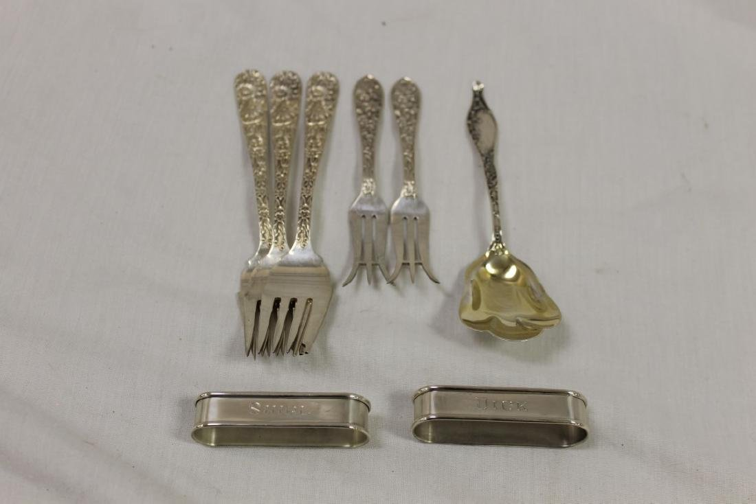 Sterling silver flatware:  (3) S. Kirk & Son