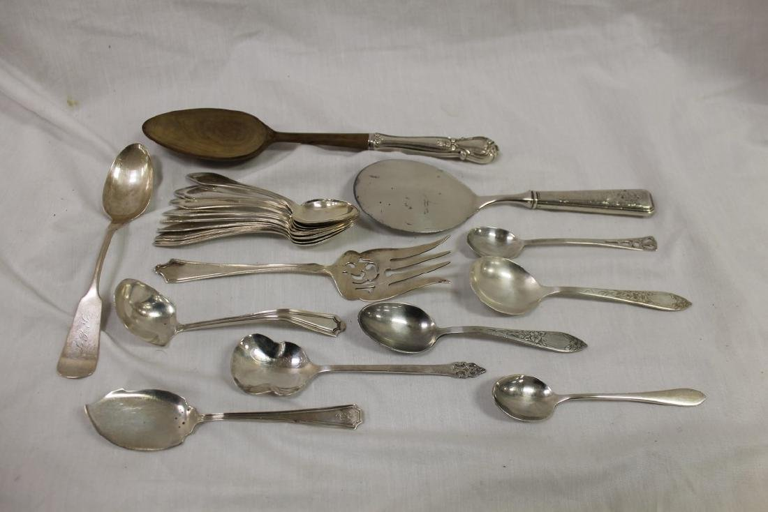 Miscellaneous sterling silver flatware:  F. Whiting