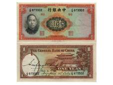 CHINA 1936 The Central Bank of China $1 UNC