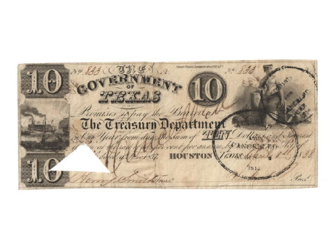 UNITED STATES 1838 Government of Texas $10