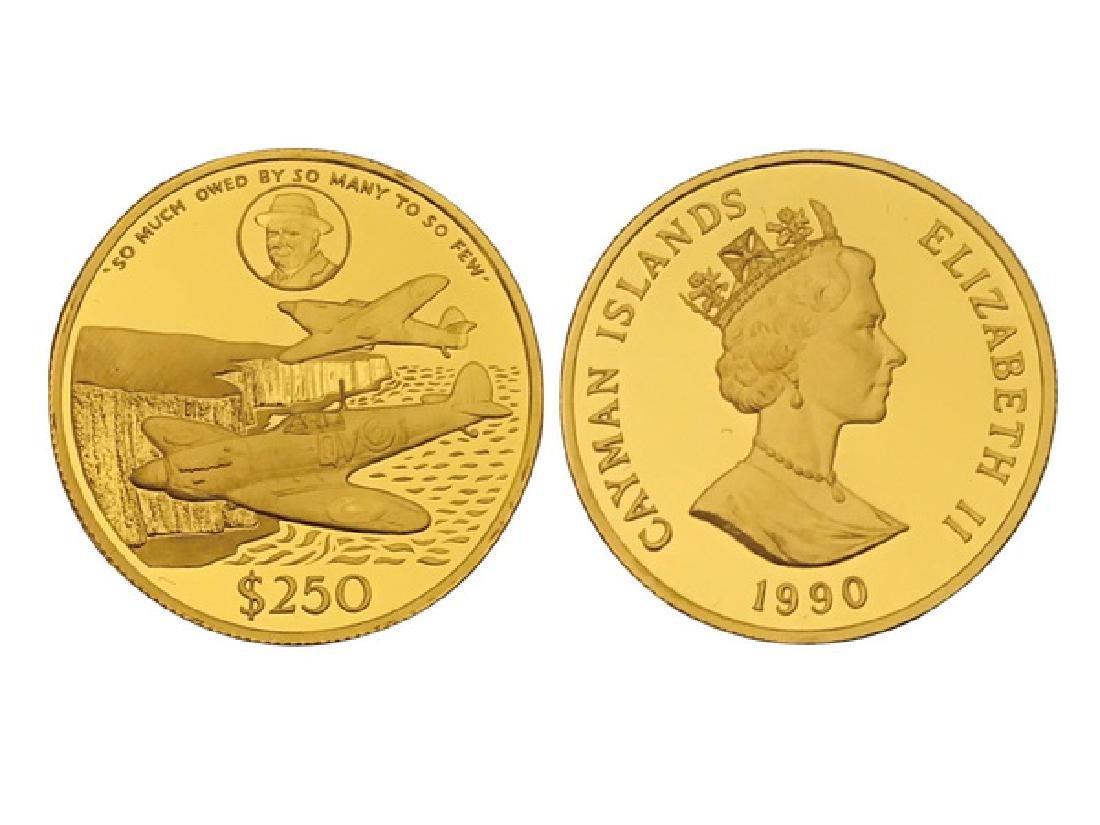 CAYMAN ISLANDS 1990 Elizabethâ…¡ Gold Proof coin