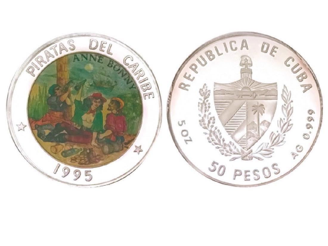 CUBA 1995 50 Peso 5oz Silver coin, Caribbean